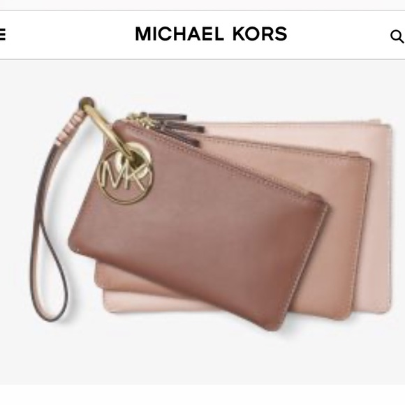 Michael Kors Tricolor pouches in leather